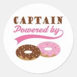 Capitán Gift (anillos de espuma) Pegatinas Redondas