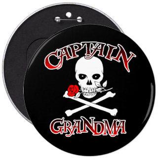 Capitán Grandma Button Pin Redondo De 6 Pulgadas