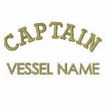 Capitán Hoodie del nombre del barco de Pesonalised Sudadera Con Capucha