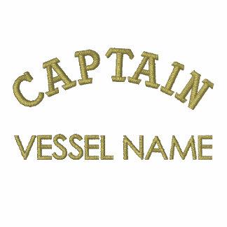 Capitán Hoodie del nombre del barco de Pesonalised Sudadera Encapuchada