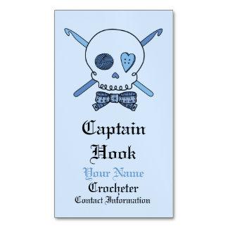 Capitán Hook Crochet Skull (pajarita) Tarjetas De Visita Magnéticas (paquete De 25)