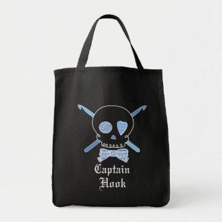 Capitán Hook Skull y ganchos de ganchillo (azul -  Bolsas