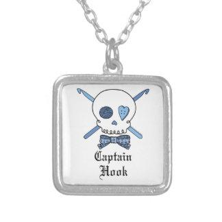 Capitán Hook Skull y ganchos de ganchillo (azules) Joyerías