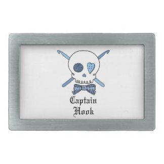 Capitán Hook Skull y ganchos de ganchillo (azules) Hebilla Cinturón