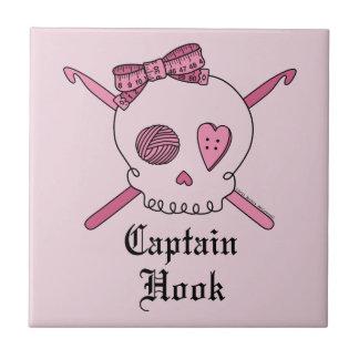 Capitán Hook Skull y ganchos de ganchillo (parte p Tejas Cerámicas