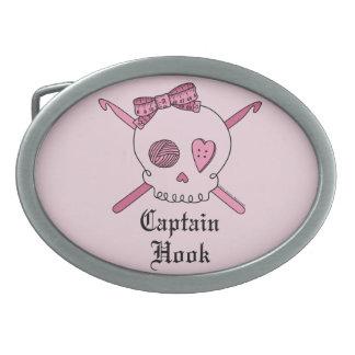 Capitán Hook Skull y ganchos de ganchillo (parte p Hebillas Cinturón Ovales