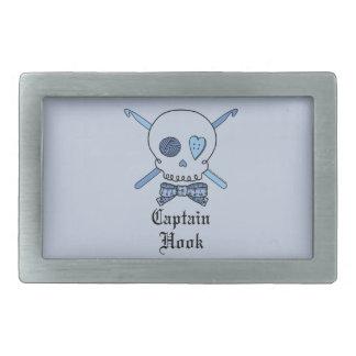 Capitán Hook Skull y ganchos de ganchillo (parte p Hebillas Cinturon Rectangulares