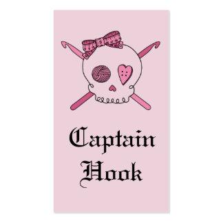 Capitán Hook Skull y ganchos de ganchillo (parte Tarjetas De Visita