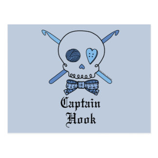 Capitán Hook Skull y ganchos de ganchillo (parte Tarjetas Postales