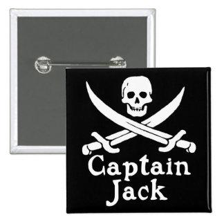 Capitán Jack Pin Cuadrada 5 Cm