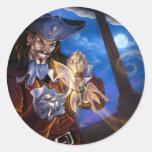 Capitán James Pegatinas Redondas