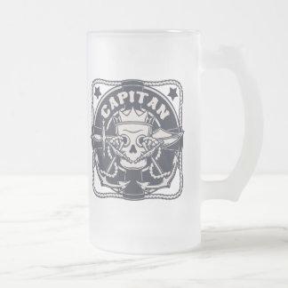 Capitan Jarra De Cerveza Esmerilada