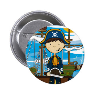 Capitán joven Button Badge del pirata Pin Redondo De 2 Pulgadas