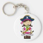 Capitán Keychain del pirata del chica Llavero Personalizado