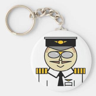 Capitán Keychain Llavero Redondo Tipo Pin