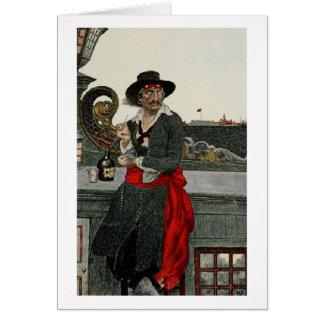 Capitán Kidd del pirata Tarjeta De Felicitación
