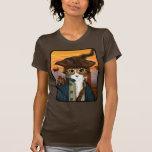 Capitán Leo, gato del pirata y camiseta del arte Playeras