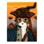 Capitán Leo, gato del pirata y postal del arte de