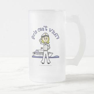 Capitán ligero Girl Taza De Cristal