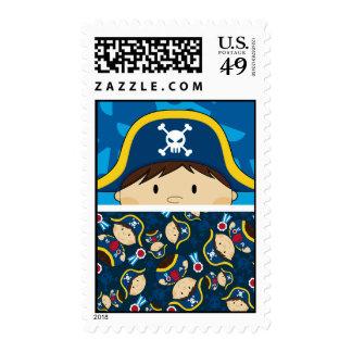 Capitán lindo Stamp del pirata Sellos