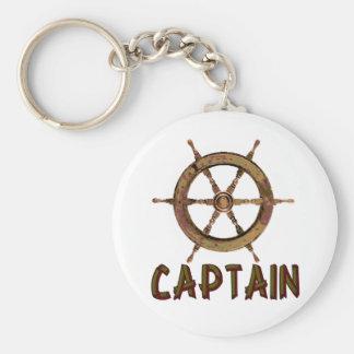 Capitán Llavero Redondo Tipo Pin