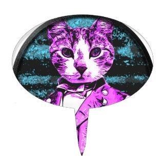 Capitán Meow Round Figuras De Tarta