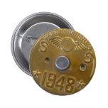 Capitán Midnight Decoder Badge 1948 Pin Redondo 5 Cm