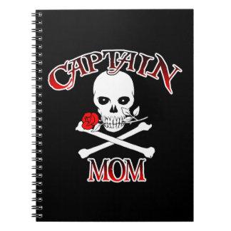 Capitán Mom Notebook Libro De Apuntes