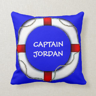 Capitán náutico de encargo Lifesaver Cojín