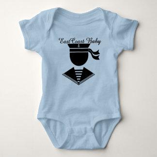 Capitán náutico del marinero del vintage del bebé mameluco de bebé