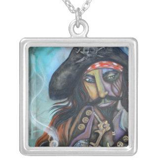 Capitán Necklace del pirata Colgante Cuadrado