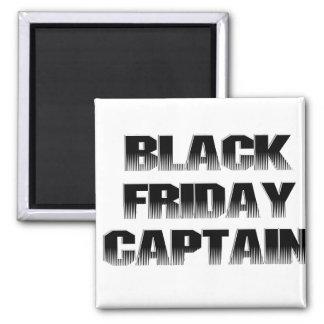Capitán negro de viernes imán cuadrado