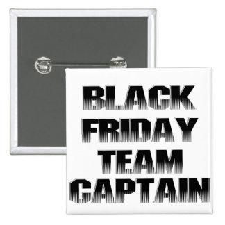Capitán negro del equipo de viernes pins