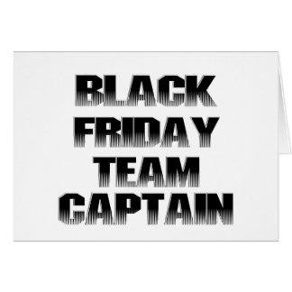 Capitán negro del equipo de viernes tarjeta de felicitación