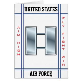 Capitán O-3 capitán de la fuerza aérea Tarjeta De Felicitación