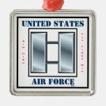Capitán O-3 de la fuerza aérea Adorno Navideño Cuadrado De Metal
