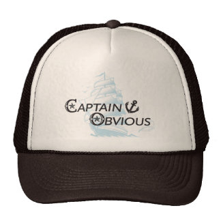 Capitán Obvious Gorro De Camionero