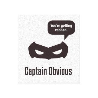 Capitán Obvious Impresión En Lienzo Estirada