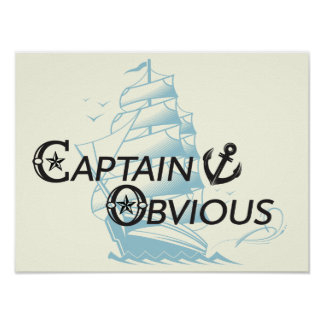 Capitán Obvious Poster