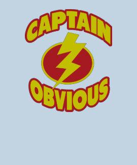 Capitán Obvious Shirts Camisetas