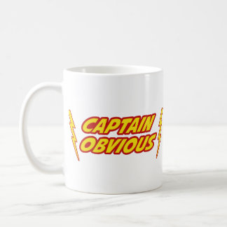 Capitán Obvious Superhero Taza Clásica