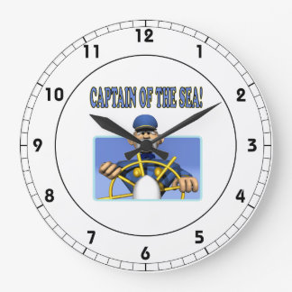 Capitán Of The Sea Reloj Redondo Grande
