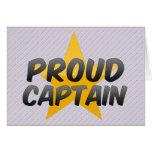 Capitán orgulloso felicitaciones