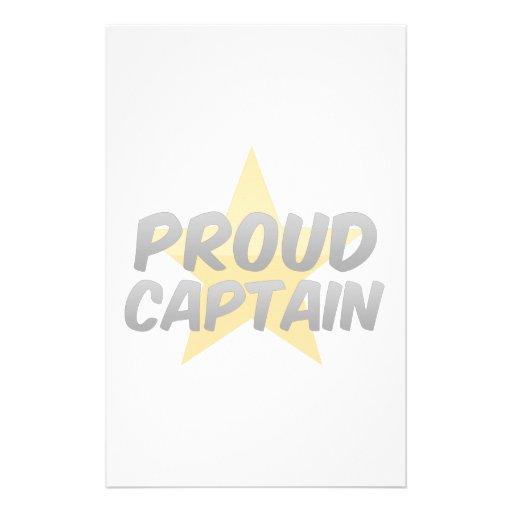 Capitán orgulloso  papeleria de diseño