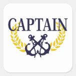 Capitán Pegatina Cuadradas
