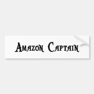 Capitán pegatina para el parachoques del Amazonas Etiqueta De Parachoque