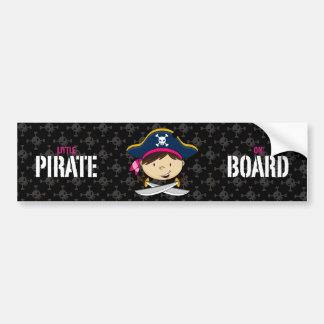 Capitán pegatina para el parachoques del pirata de pegatina para auto