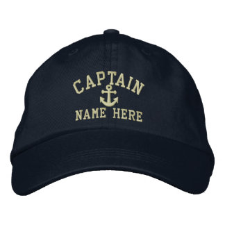 Capitán - personalizable gorra de béisbol bordada