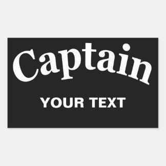 CAPITÁN - PERSONALIZABLE PEGATINA RECTANGULAR