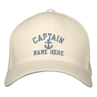 Capitán - personalizable (texto lateral) gorro bordado